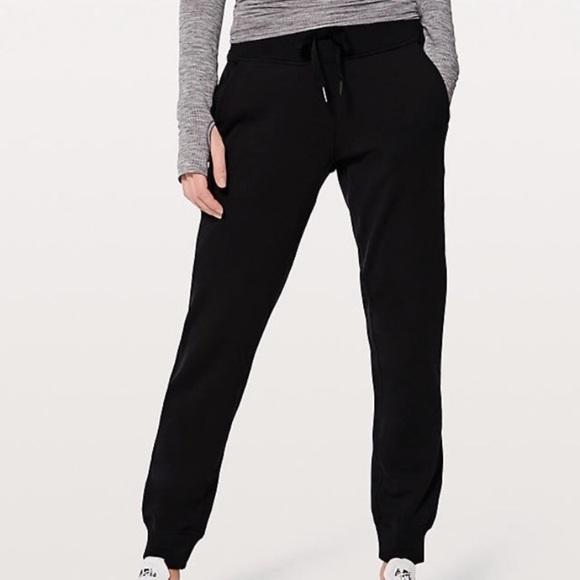 3f5f353ac lululemon athletica Pants - Lululemon black joggers lime green tuxedo stripe
